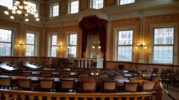 Inside the old Connecticut State House in Hartford.