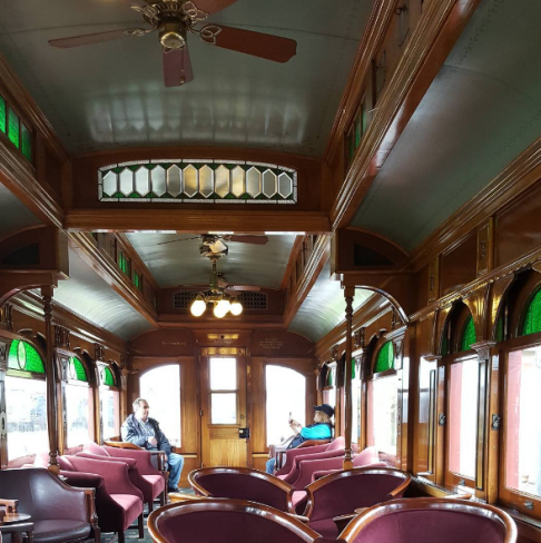 Inside the Parlor Car.