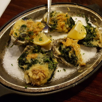 My friend's roasted oysters.
