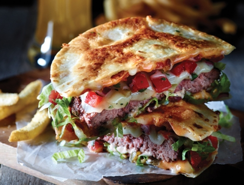 The Quesadilla Burger from Applebee's own website. In their dreams it looks this good.