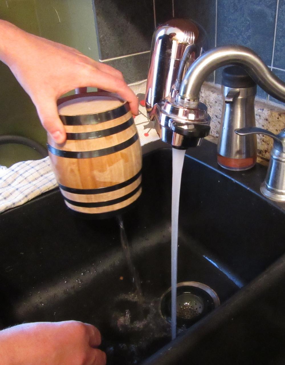 Draining Barrel