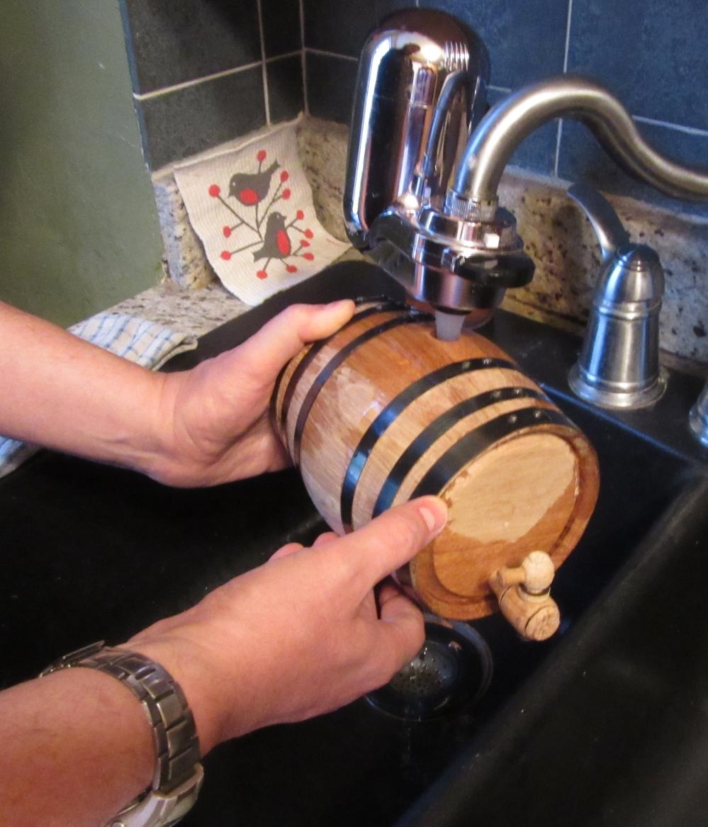Filling Barrel w-Hot Water